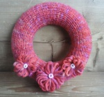 chunky pink flower wreath