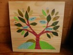 personalised family tree decoupage