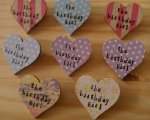 birthday girl wooden badges