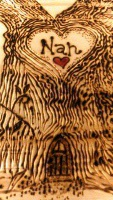 pyrographed family tree Nan