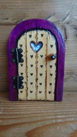 Love purple teeny fairy door