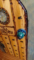 Blue wash sea side fairy door