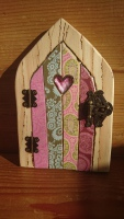 Decoupage fairy door