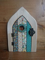Fairy door in country floral decoupage