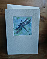 Dragonfly,  pen and watercolour